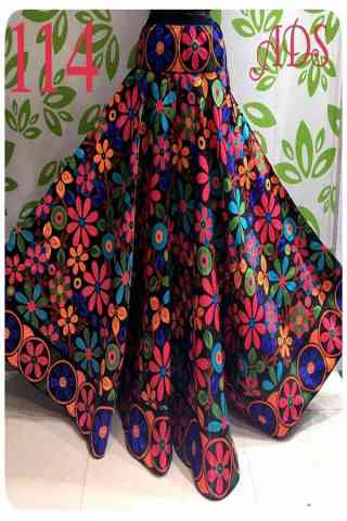 Eye Catching Multi Color Satin Silk Printed Free Size Lehenga - CG120  30""