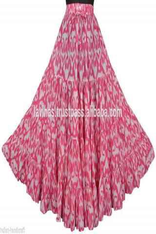 "Remarkable Pink Color Satin Silk Printed Free Size Lehenga - CG148 30"""