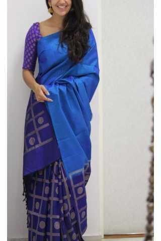"""Lovely Blue Color Soft Silk Designer Sarees - CND1200  30"""""""