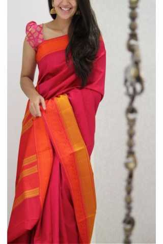 """Remarkable Pink Color Soft Silk Designer Sarees - CND1281  30"""""""