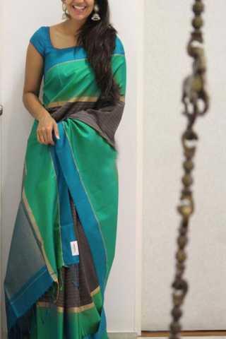 """Graceful Green Color Soft Silk Designer Sarees - CND1314  30"""""""