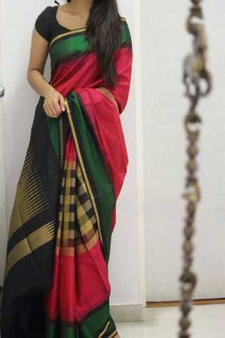 "Royal Multi Color Soft Silk Designer Sarees - CND1326  30"""