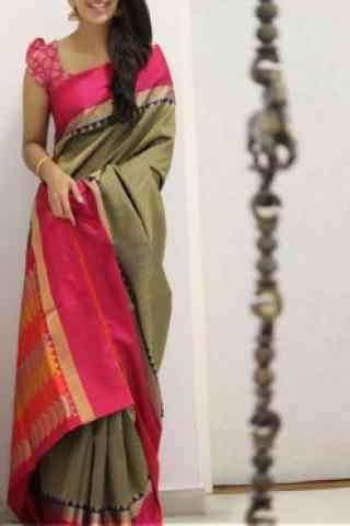 "Sizzling Multi Color Soft Silk Saree - Cnd1109  30"""