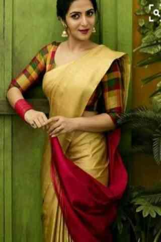 """Unique Beige Color Soft Silk Designer Sarees - cnd703 30"""""""