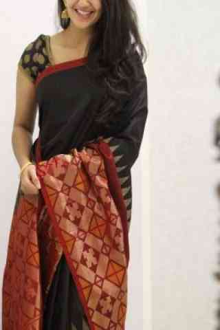 Dreamy Black And Red Color Soft Silk Designer Sarees-cnd1067  30""