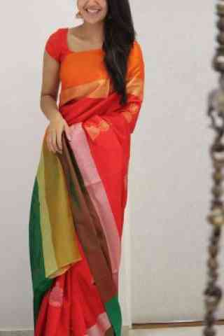 Classic Multi Color Soft Silk Saree - cnd1090  30""