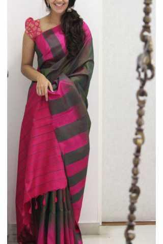 """Unique Multi Color Soft Silk Saree - cnd1168  30"""""""