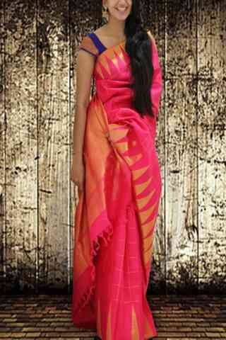Ultimate Pink Color Soft Silk Saree - cnd590  30""