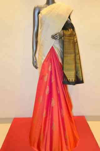 "Modish White Color Soft Silk Designer Sarees - cnd625  30"""