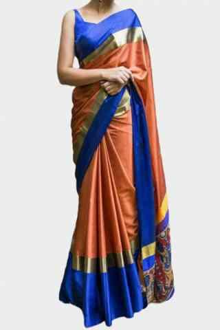 """Dreamy Orange Color Soft Silk Designer Sarees - cnd626  30"""""""