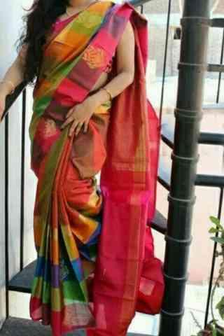 "Dashing   Multi Color Soft Silk Designer Sarees - cnd655 30"""