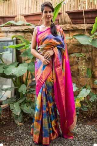 """Ultimate  Multi Color Soft Silk Designer Sarees - cnd673  30"""""""
