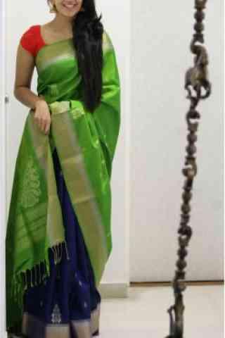 "Outstanding Green Color Soft Silk Designer Sarees - cnd685  30"""
