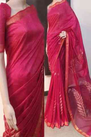 """Delightful Pink Color Soft Silk Saree - cnd728  30"""""""