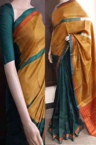 "Evergreen Multi Color Soft Silk Saree - cnd733  30"""