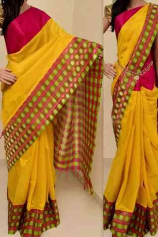 "Stimulating  Multi Color Soft Silk Saree - cnd760  30"""