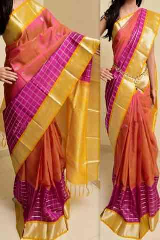 "Forever Multi Color Soft Silk Saree - cnd763  30"""