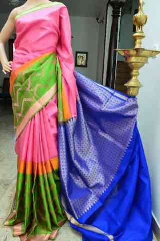 Pretty Multi Color Soft Silk Designer Sarees - cnd908  30""