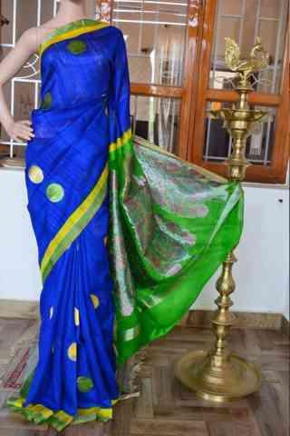 "Graceful Blue Color Soft Silk Designer Sarees - cnd911  30"""