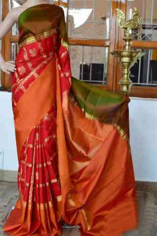 Forever red Color Soft Silk Saree - cnd923  30""