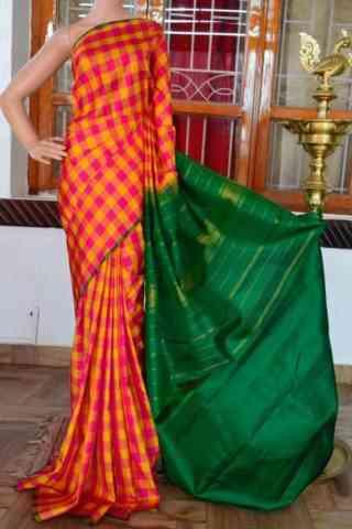 "Glammrous Multi Color Soft Silk Designer Sarees - cnd925  30"""