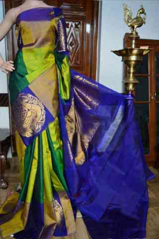 "Modern Green Color Soft Silk Designer Sarees - cnd930 30"""