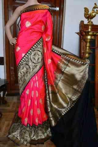 "Flawless Pink Color Soft Silk Designer Sarees - cnd947  30"""
