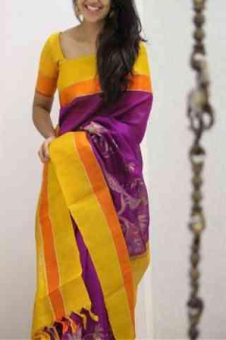 "Modish Pink Color Soft Silk Designer Sarees - cnd990 30"""